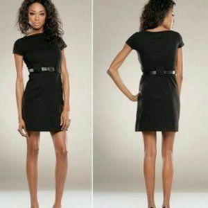 Theory Black Short Sleeve Dress w/ Belt Loops EUC